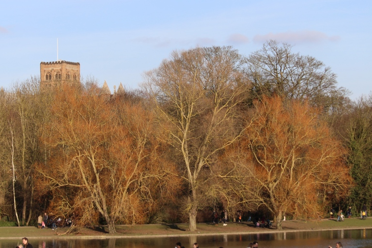 St Albans' Abbey in the Sunshine